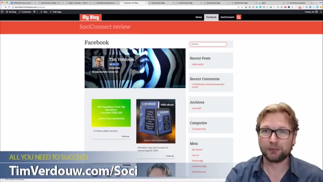 SociConnect Review – Embed your Facebook page into your website