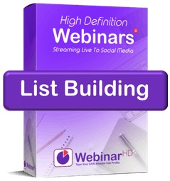 WebinarHD list building