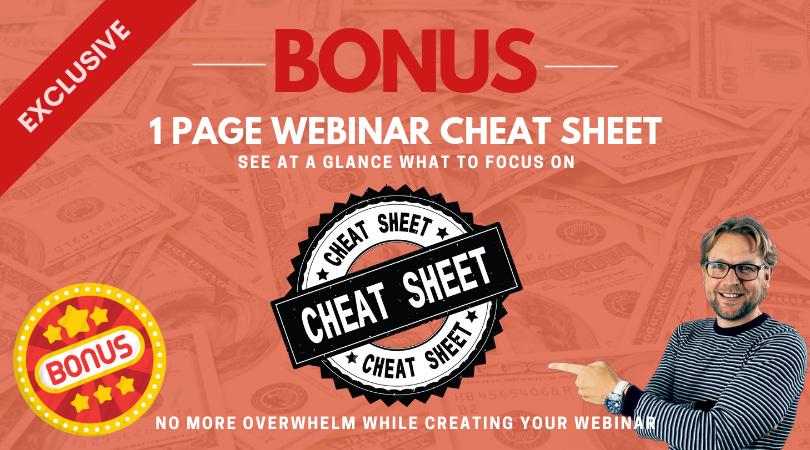 Webinar cheat cheet