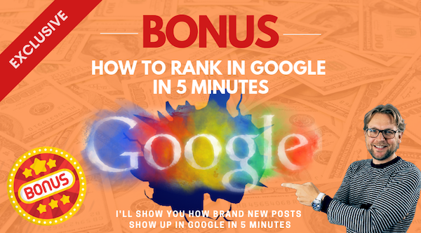 How to rank in Google bonuses