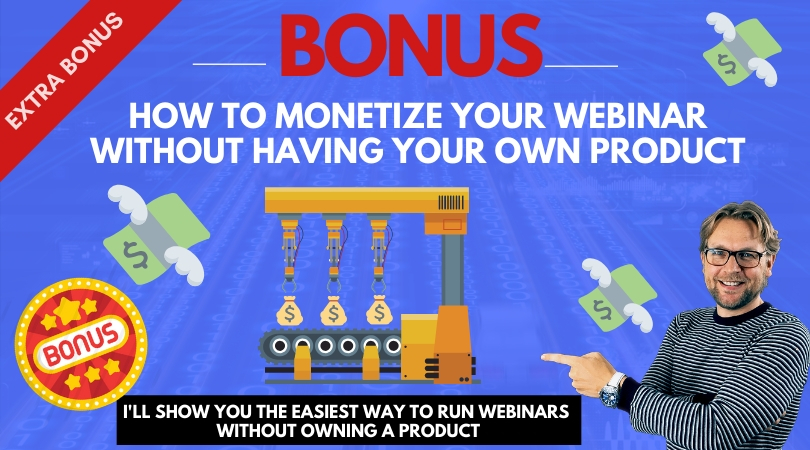 How to monetize your webinar
